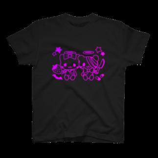 Meltrium*の病みホリ猫熊 T-shirts