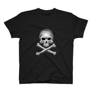 ドットスカル シルバー T-shirts