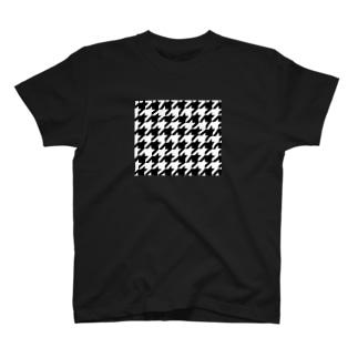 千鳥プリントシャツ T-shirts