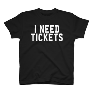 I NEED TICKETS - WHITE LOGO T-shirts