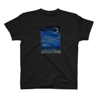 ぼっち夜 T-shirts