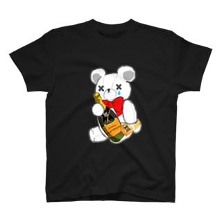 SAKEくま champagne T-shirts