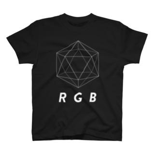 regular icosahedron RGB  T-shirts