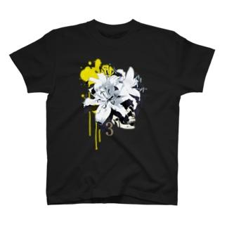 Lily Skull [Yellow] T-shirts