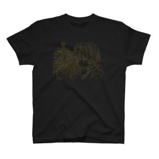 星の崩れる夜 線画 T-shirts