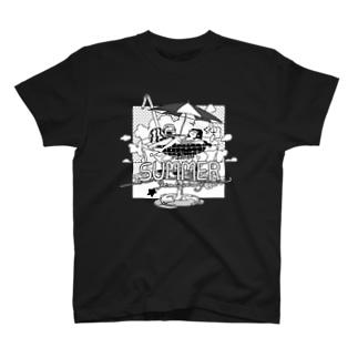 ダラダラ夏休みモノ T-shirts