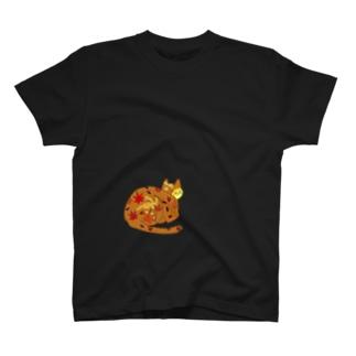 秋ねこ(='x'=) T-shirts