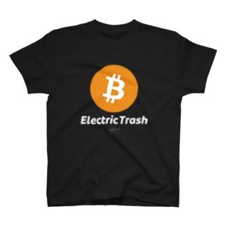 電子のゴミ 黒 T-shirts