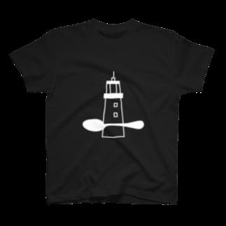 灯台とスプーンの灯台とスプーン(白) T-shirts