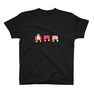 きみどりちゃんパンツでんしゃ T-shirts