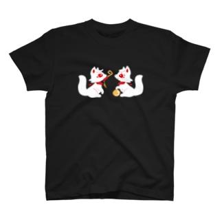 狐月稲荷社~鍵と宝玉の稲荷狐〜 T-shirts