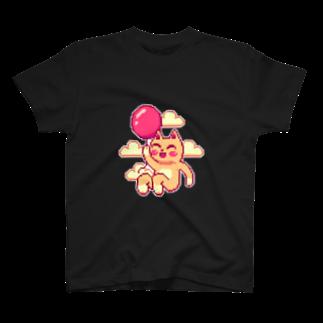 notteの浮遊するネコ T-shirts