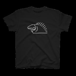 BANANA JERKYのグリーンイグアナ/ホワイト T-shirts