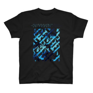 SIZUKI.の水葬 - Black 【雨音-amane-】 T-shirts