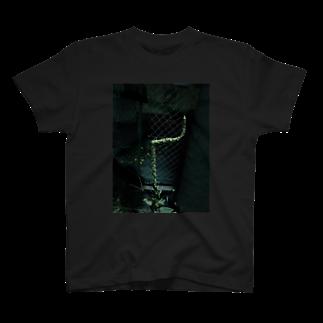 AGryqの折られても起き上がれ T-shirts