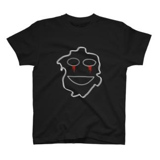 仮面輪郭White Ver T-shirts