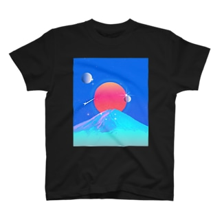 スーパーコスモ富士山 T-shirts