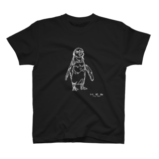 HELLL - ヘル - の左手で描いたペンギン T-shirts