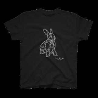HELLL - ヘル - の左手で描いたウサギB T-shirts
