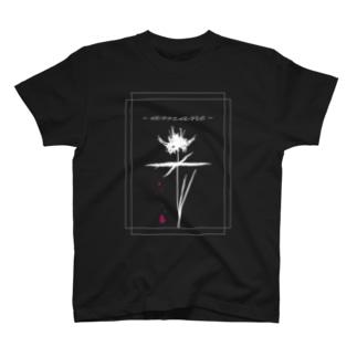 雨音-amane- black 【T-shirt】 T-shirts