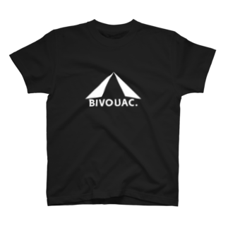 bivouacのbivouacテントロゴ(ホワイト) T-shirts