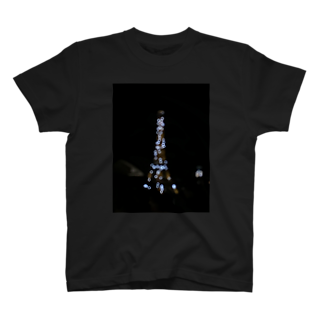 HotateのぼやけたEiffel Tower T-shirts