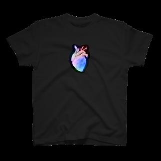 nemuriのHeart カラフル T-shirts