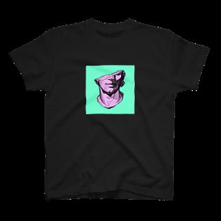 erika skeltonのギリシャ彫刻フェイス T-shirts