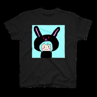 市イラストグッズショップのうさ耳娘 T-shirts