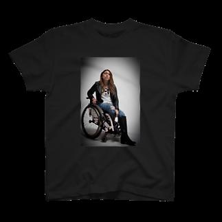 中嶋涼子の車椅子ですがなにか?!のロゴなしシリーズ T-shirts