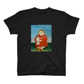 child with a doll T-shirts