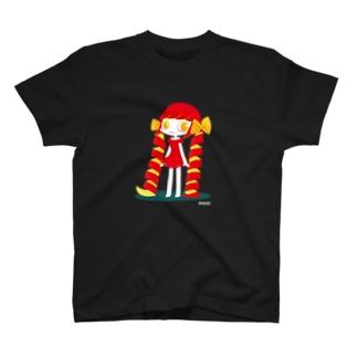りんごの女の子 T-shirts