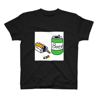ビールとタバコ T-shirts