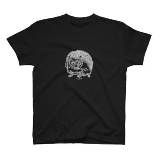 左手で描いたハリネズミ T-shirts