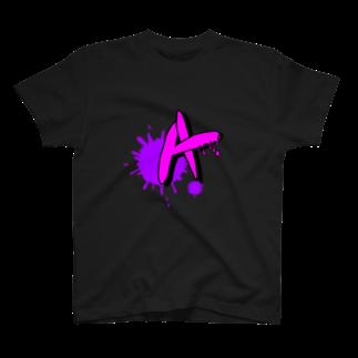 simple-designのアルファベット A T-shirts