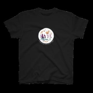 jeieici ART STOREのダックスフンドアート T-shirts
