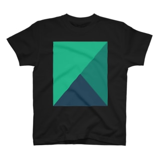 Composition in Green, Green, and Green (Dark Mode) T-shirts