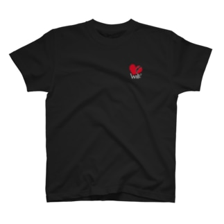 シャツ will 黒 T-shirts