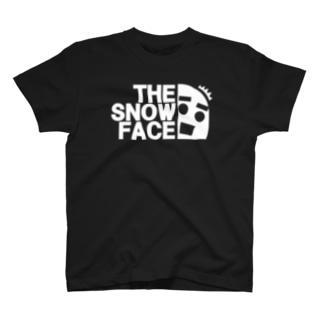 ハッとする雪だるま ざ・すのー・ふぇいす2019秋冬モデル  T-shirts