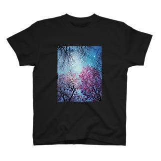 桜×宇宙 T-shirts