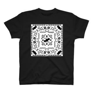 アリンコペイズリー -ホワイト- T-shirts