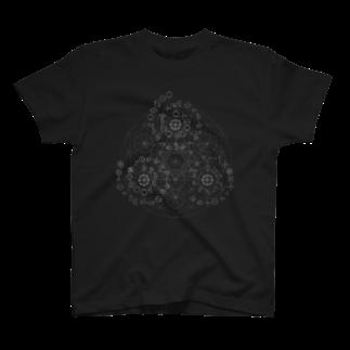 metao dzn【メタをデザイン】のカタカムナ567(WH) T-shirts