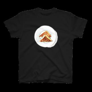 ラムシコ洋裁店のフレンチトースト 水彩 T-shirts