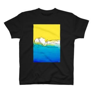 青に溶けていく T-shirts