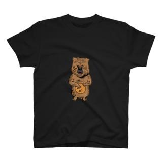 cowardly bear black  T-shirts