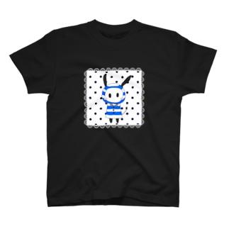 レインコード 四角レース 白 T-shirts