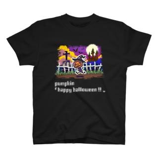 ドット絵「ハロウィンのカボチャ」 T-shirts