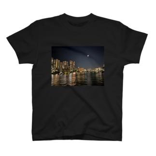 TOKYO MOON(東京夜景) T-shirts