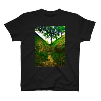 どこかに続く道 T-shirts