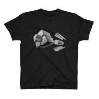 幾何分割デッサン~八ッ橋じゃねぇよボケ~ T-shirts